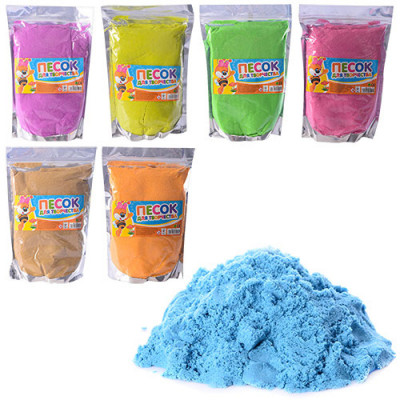 Кинетический песок для творчества, 7 цветов: 1000 грамм и 500 грамм (MK 1275)