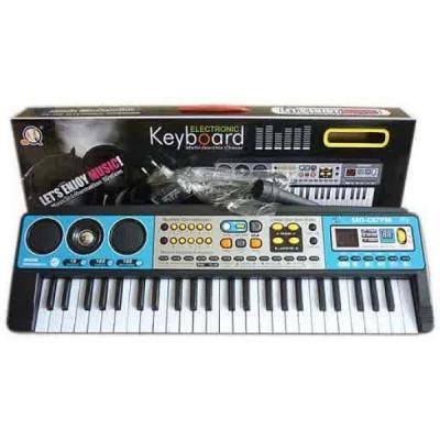 Электронный детский синтезатор MASTER-824, для обучения с микрофоном и USB / MP3 (MQ 017)